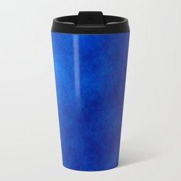 Misty Deep Blue Metal Travel Mug
