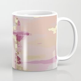 Pink and Gold Abstract Art Coffee Mug