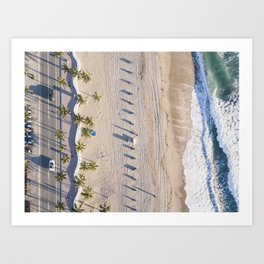 Fort Lauderdale from aerial point of view Art Print
