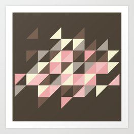 Triangles [strawberry mousse] Art Print
