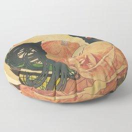 Job by Alphonse Mucha Floor Pillow