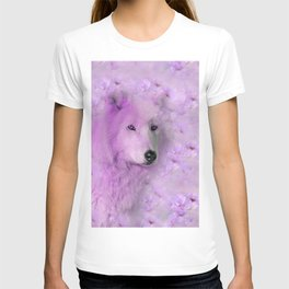 PURPLE WOLF FLOWER SPARKLE T-shirt