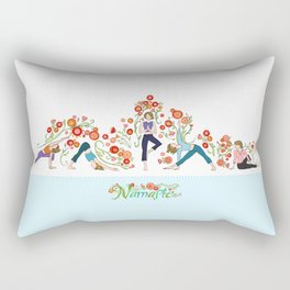 Yoga Girls_Growing With Poses_Robin Pickens Rectangular Pillow