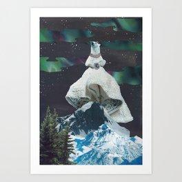 Aurora: Goddess of the Northern Lights and Keeper Keeper of Stars Art Print