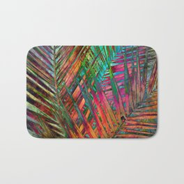 Multicolor Palm Leaves Bath Mat