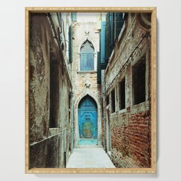 Venice Italy Turquoise Blue Door Serving Tray