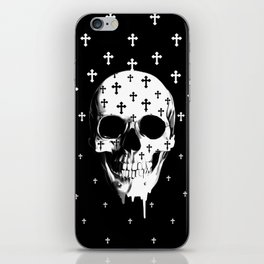 After Market, gothic skull iPhone Skin