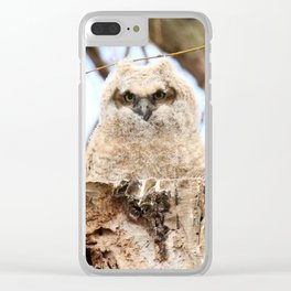Sibling Espionage Clear iPhone Case