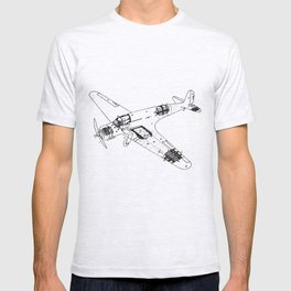 Airplane diagram T-shirt