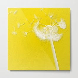 Freesia Yellow Dandelion Metal Print