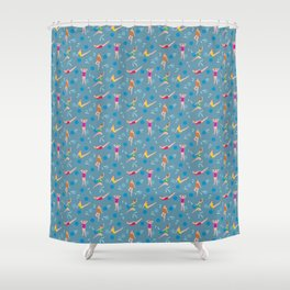 Homage to Esther Williams - Dusty Blue Shower Curtain