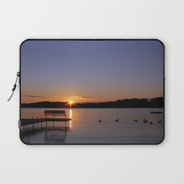 Geese at Sunrise Laptop Sleeve