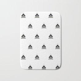 Arrows Collages Monochrome Pattern Bath Mat