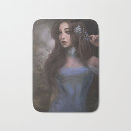 Romantic and elegant girl portrait Bath Mat
