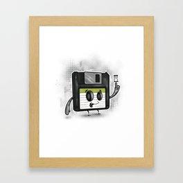 Floppy Disc Dave Framed Art Print