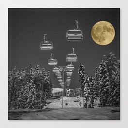 Chair Lift to the Moon Canvas Print