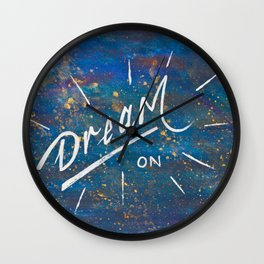 Dream On in the Starry Galaxy of Wonder Wall Clock