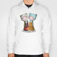 wonderland Hoodies featuring wonderland by Agnes Laczo