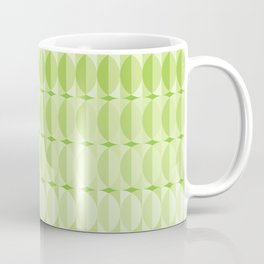 Leaves at springtime - a pattern in green Coffee Mug