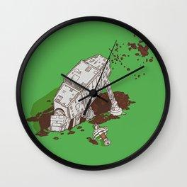 In a backyard, far, far away... Wall Clock