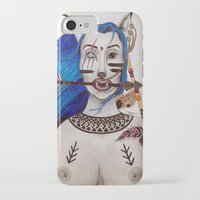 kenzo iPhone & iPod Cases featuring Blue haired Warrior by  Shereen Annalise x Kenzo Tenma