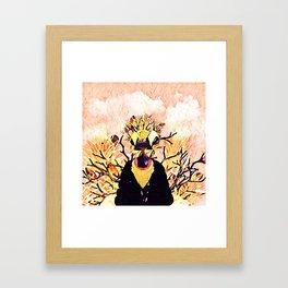 Golden sheep Framed Art Print