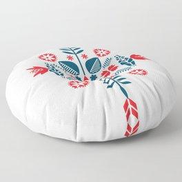 Scandinavian Folk Pattern Floor Pillow