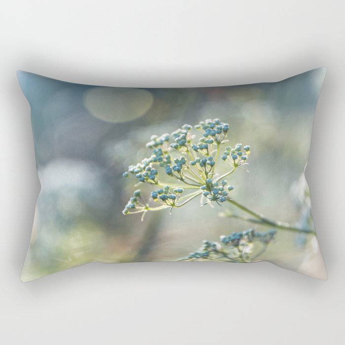 Early morninglight in a meadow Rectangular Pillow
