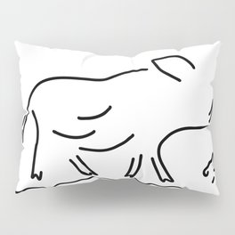 wild boar young wild sow Pillow Sham