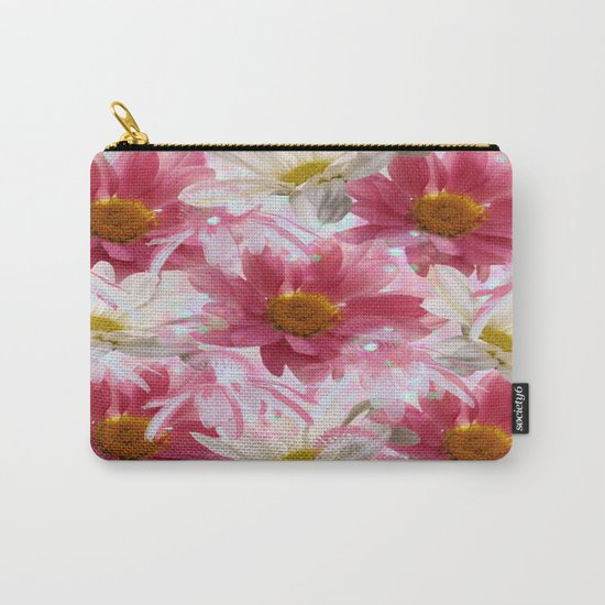 Spring Floral Explosion Carry-All Pouch