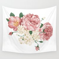 playstation Wall Tapestries featuring Watercolor rose by eARTh