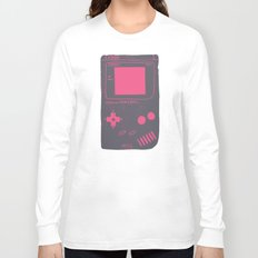 Game Boy on pink Long Sleeve T-shirt