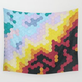 Nebula Hex Wall Tapestry