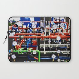 Piping with manometers for industry Laptop Sleeve