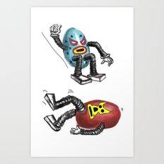 wrestling eggs Art Print