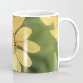Beautiful Yellow Vintage Flower Coffee Mug