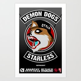 Demon Dogs Biker Brigade Art Print
