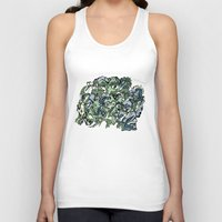 faces Tank Tops featuring Faces by Pat Pot Designs