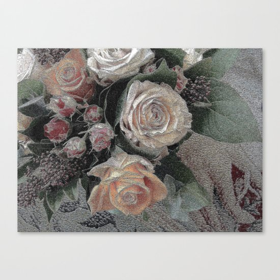 First Frost- Frozen Flowers  Canvas Print