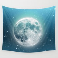 luna Wall Tapestries featuring Luna by Good Sense