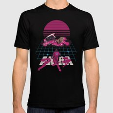 Neo-Tokyo Akira Synthwave tribute LARGE Mens Fitted Tee Black