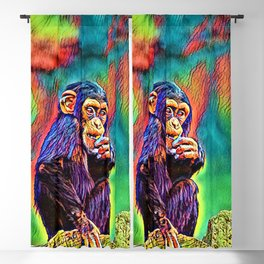 AnimalColor_Chimpanzee_005_by_JAMColors Blackout Curtain