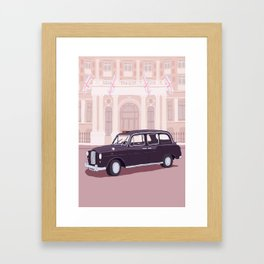 London Taxi Cab Framed Art Print