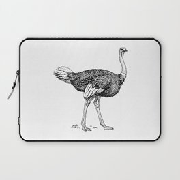 Ostrich Drawing Sketch Laptop Sleeve
