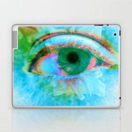 Eye in Bloom [Blue] Laptop & iPad Skin