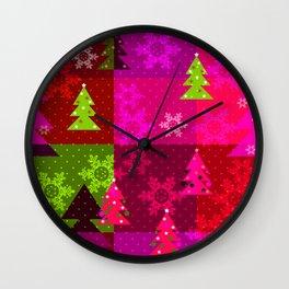 Crimson Christmas Wall Clock
