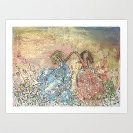 Sunset with My Girl Art Print