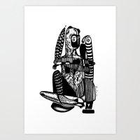Bear me - Emilie Record Art Print