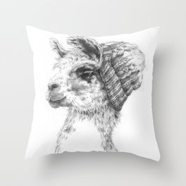 Wooly Llama Throw Pillow