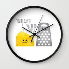 Cheesy Couple Wall Clock